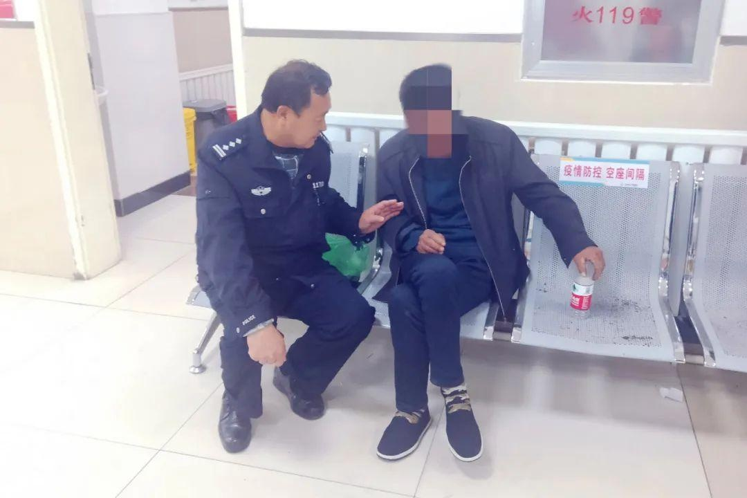 【我为群众办实事】【辽中】男子服药轻生 民警及时救助