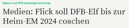 德媒:弗里克将于德国队签约至2024年