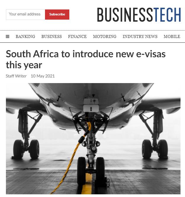 南非今年将推出电子签证 在线申请过程约需20分钟