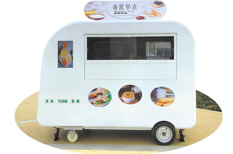 第四代百余辆智能早餐车本月上岗,将成为便民的城市家具