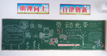 六安市裕安区石板冲乡第二小学开展劳动教育宣传周活动