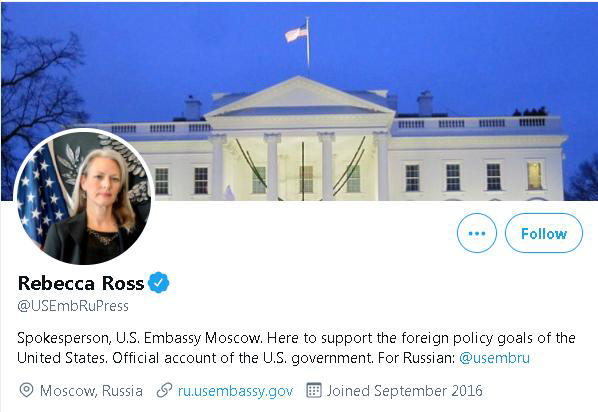 俄媒:俄罗斯将驱逐美驻俄使馆发言人
