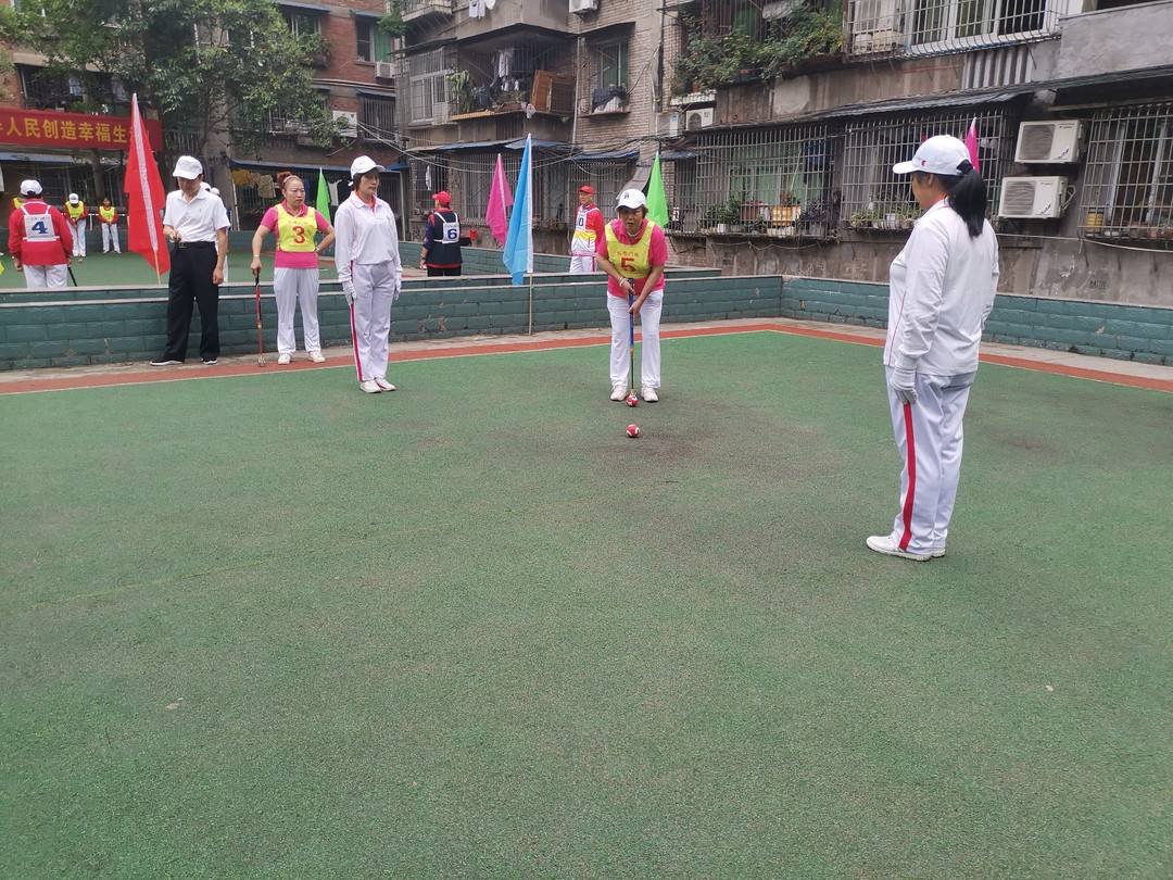 四川富顺开展职工门球比赛全县8支代表队50余名运动员参赛