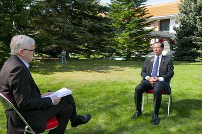 驻瑞典大使桂从友就中瑞关系等问题接受瑞典《快报》专访