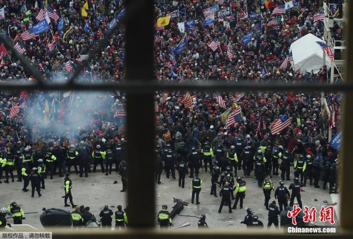 """美国会骚乱后续:前代理防长称怕派军队被视为""""政变"""""""
