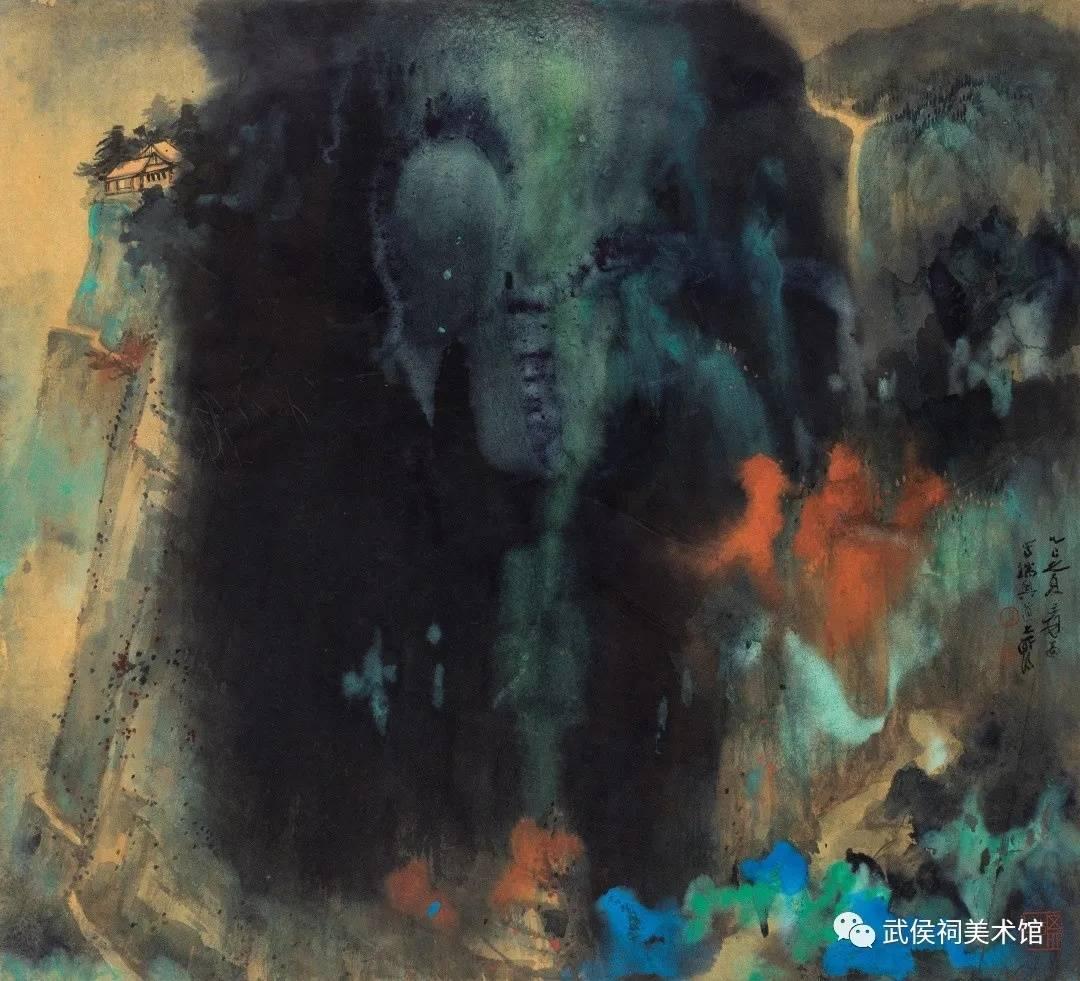 """张大千《爱痕湖》曾以1.008亿元成交,快来成都武侯祠""""偶遇""""姊妹篇"""