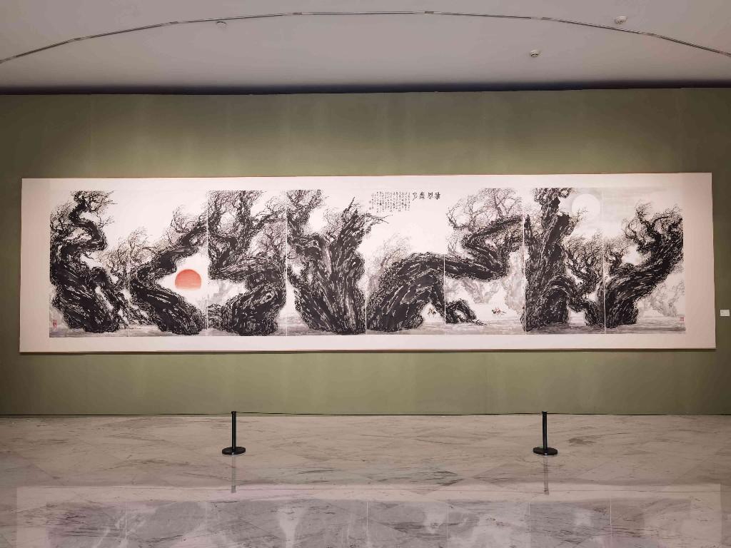 """时代的""""写真"""",岭南画坛大家梁世雄中国画艺术展在关馆开幕"""
