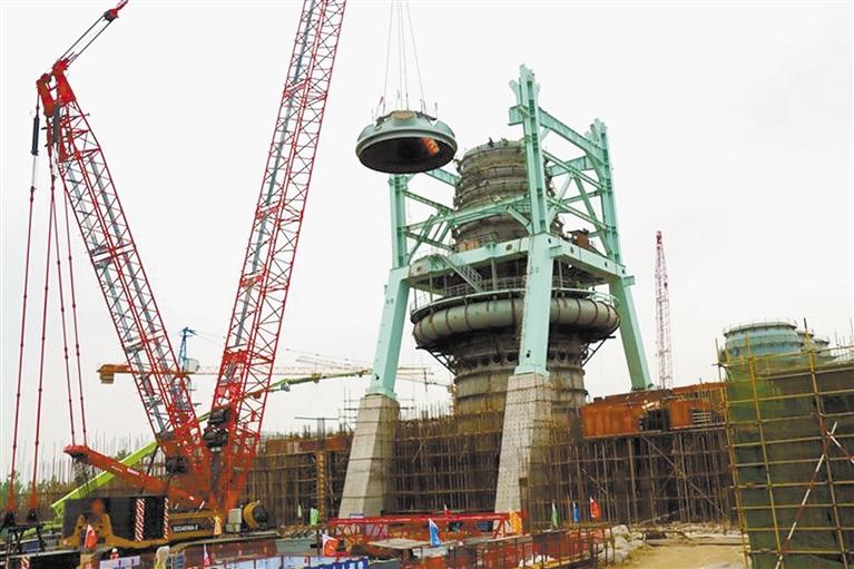 临沂钢投年产270万吨优特钢项目高炉本体顺利封顶