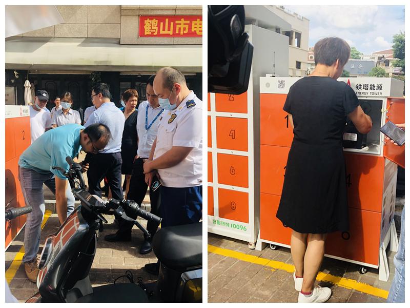 """电动自行车充电存隐患?广东江门消防率先试点""""换电柜"""""""