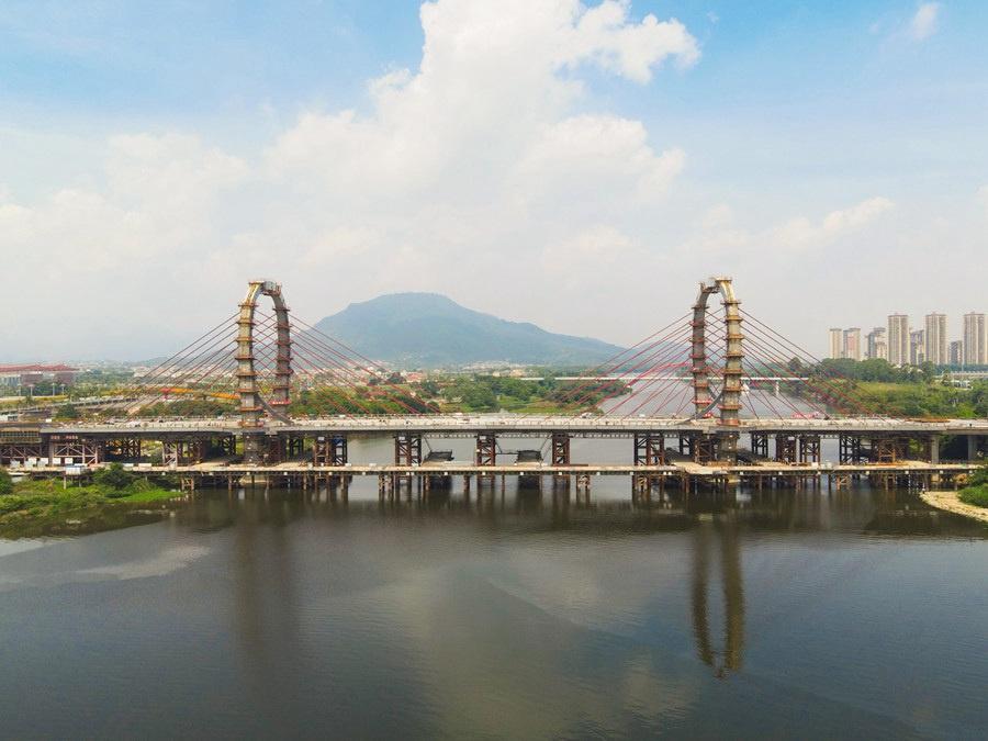 """漳州这座跨江大桥靠32条钢索牵起""""时空之门"""""""