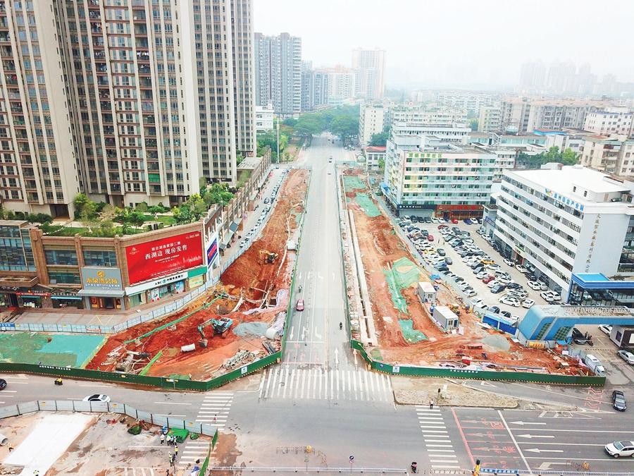 金龙大道(惠城区段)改造遇管线难题 竣工时间不变