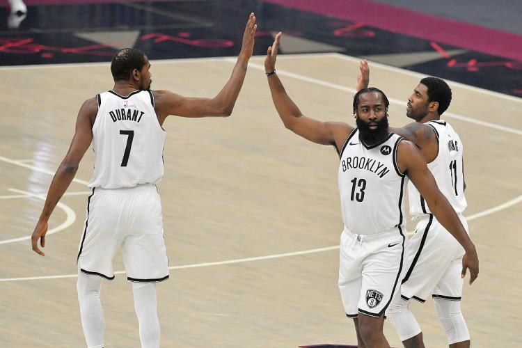 三巨头+格里芬&布朗 篮网排出本赛季第37套首发阵容