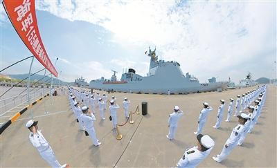 中国海军第38批护航编队启航赴亚丁湾