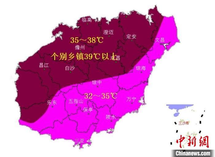 """海南高温预警不断 """"火烧天""""将持续至23日"""