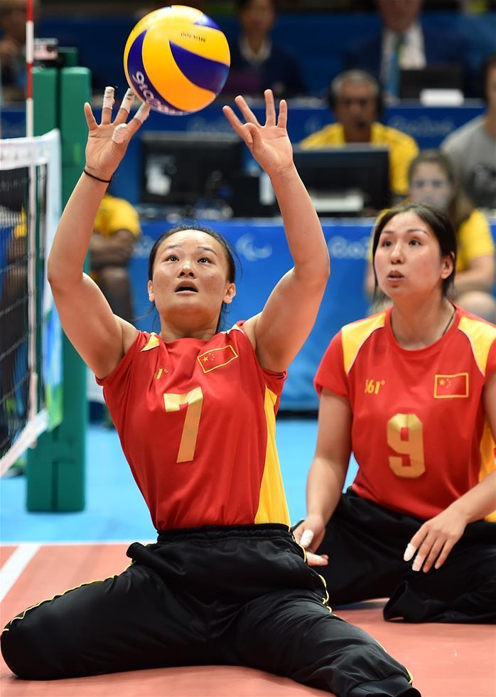 特写 坐着打排球,咱们也是冠军!她是中国残奥轮椅女排队长