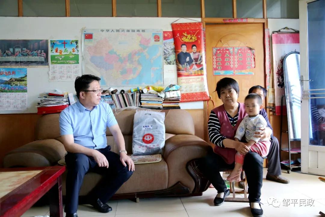 邹平市民政局开展孤困留守儿童大走访活动