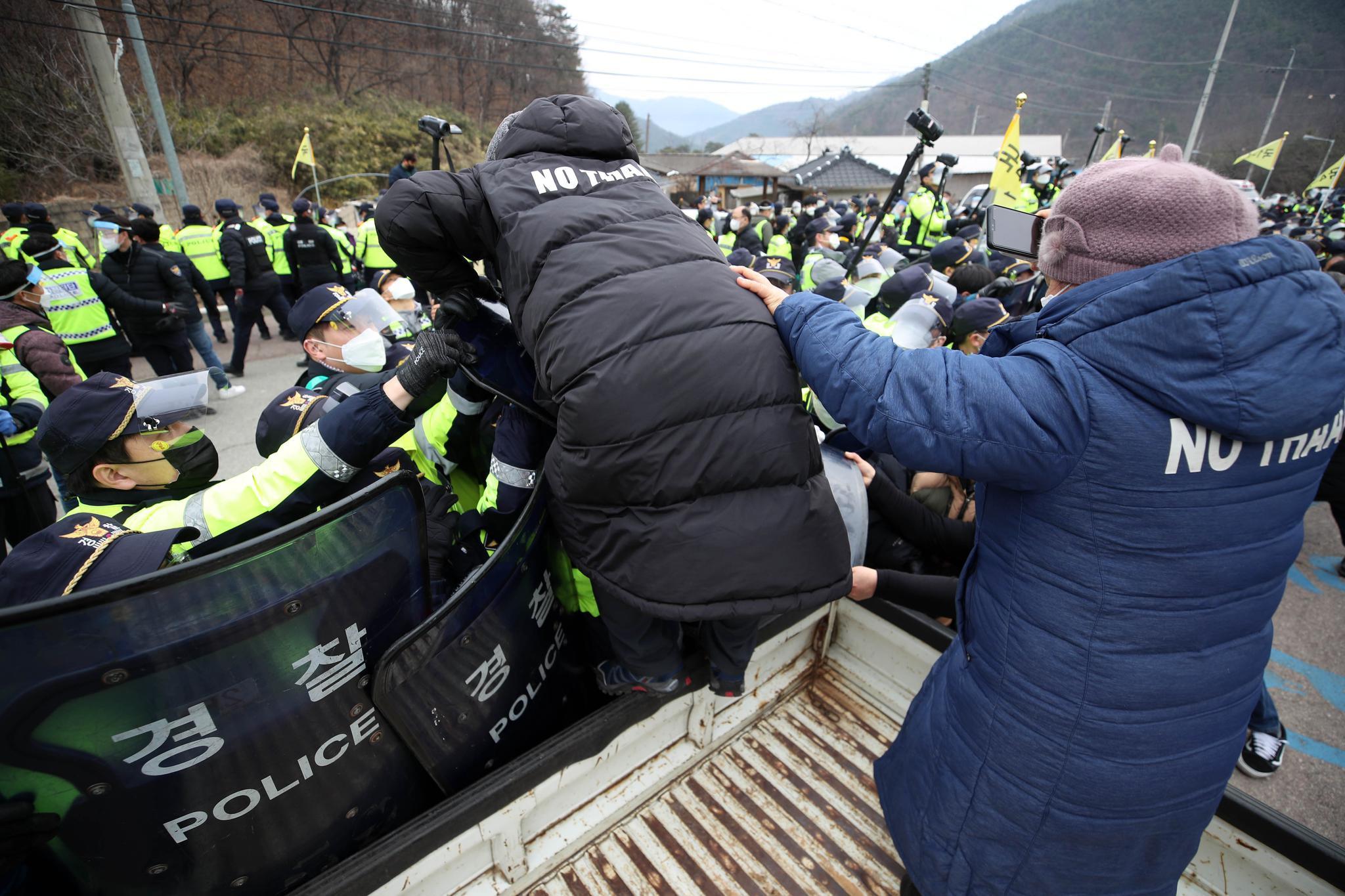 韩媒:萨德基地物资补给完毕