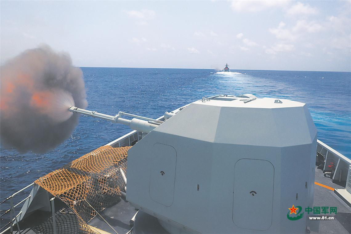 高清大图|南部战区海军某支队舰艇编队实战化训练影像