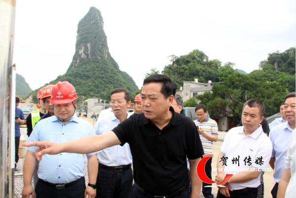 贺州市市长彭代元调研交通重点项目暨开展第二季度巡河、检查防汛备汛工作