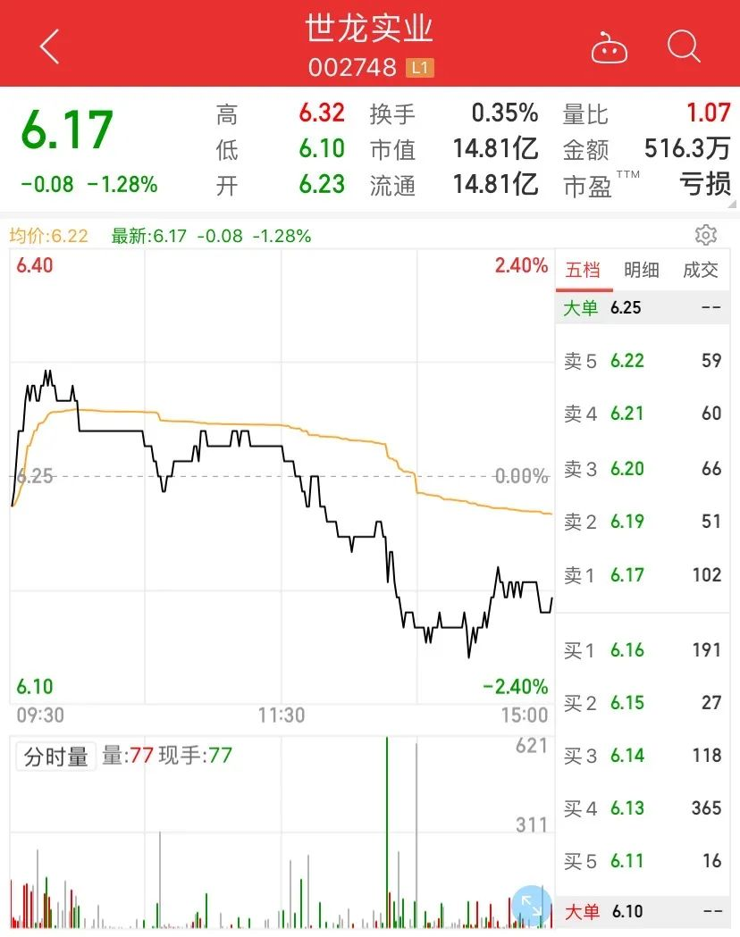 A股最失控公司:世龙实业财务遭电信诈骗300万 前总