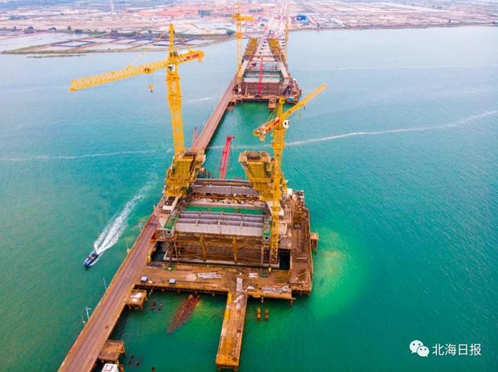 北海三大路桥项目建设抓紧推进