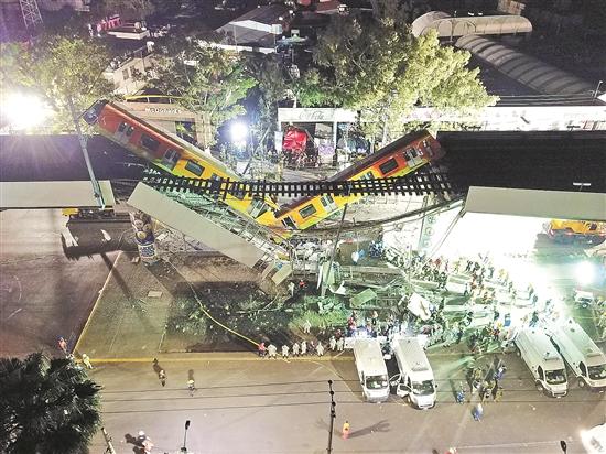 墨西哥一桥梁坍塌致23死约70伤 总统承诺彻查事件