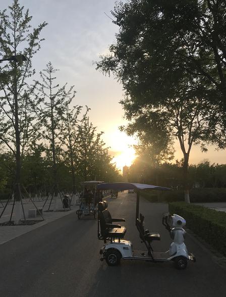 智慧园林燃爆五一,机器人导游亮相北京园博园