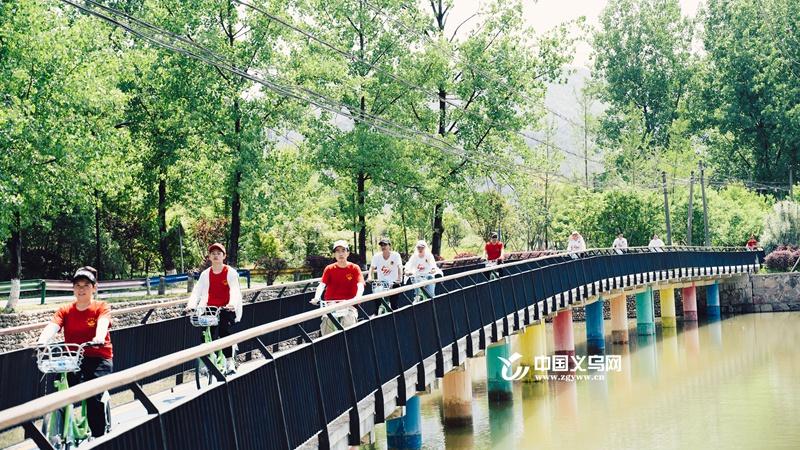 义乌廿三里街道举办多彩华溪精品线骑行活动