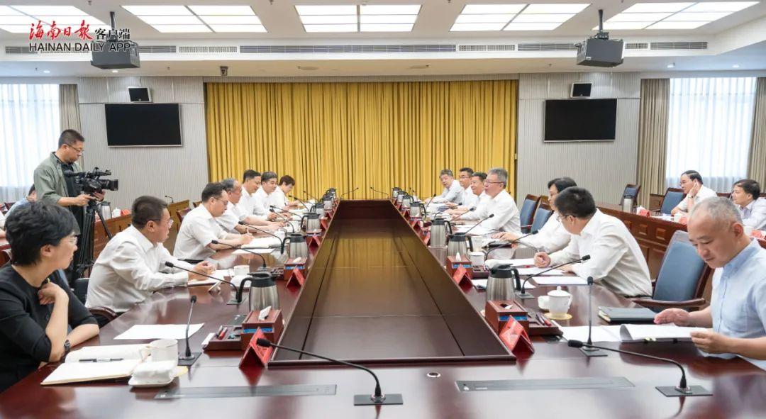 沈晓明与山西省省长林武会谈 冯飞毛万春参加