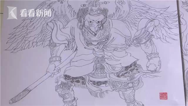视频|保安大叔临摹百幅封神榜人物:想开个展览