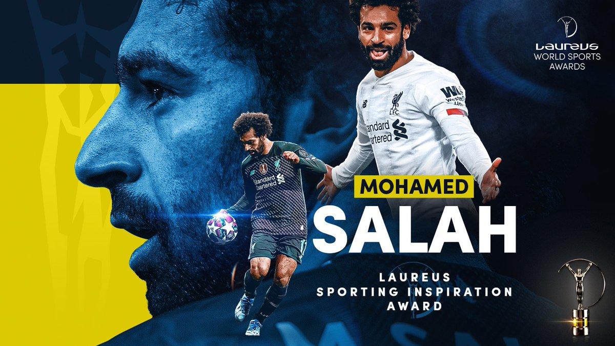 劳伦斯官方:萨拉赫荣获2021年体育激励奖