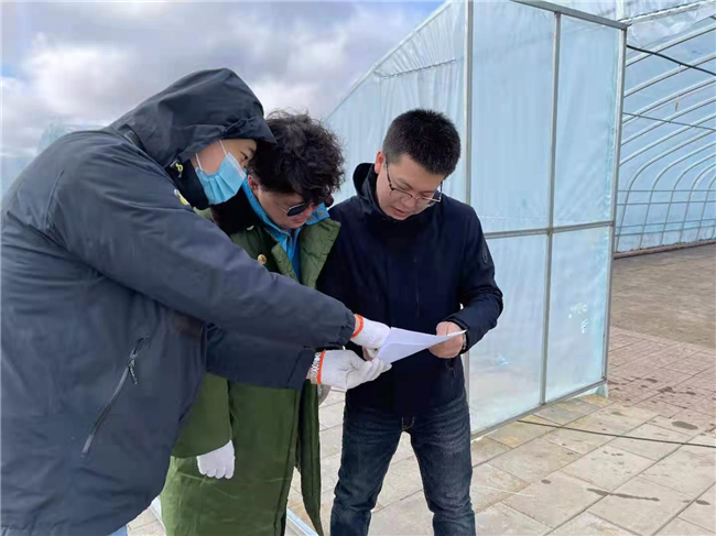 记者王海樵和技术刘宇涵、陈治铜研究拍摄点位布设