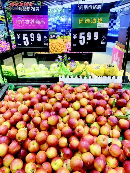 """""""五一""""假期过后 大棚油桃便宜了"""