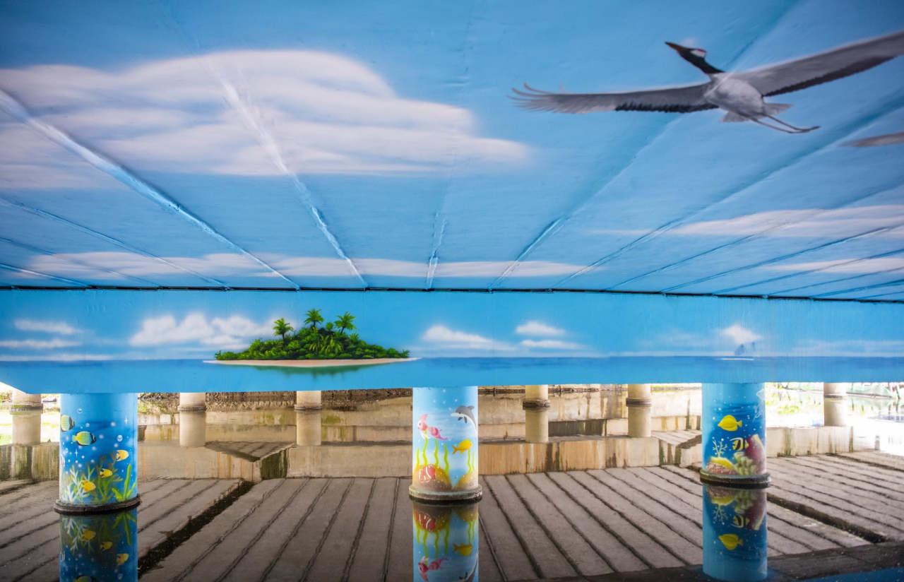 温岭九龙汇公园桥底空间装饰正式完工惊艳亮相