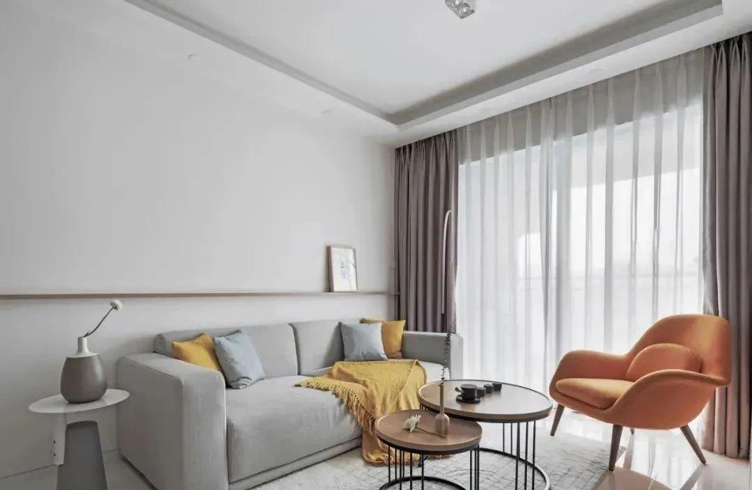 装修效果图丨88㎡简约原木风格新房装修,卧室榻榻米简单舒服