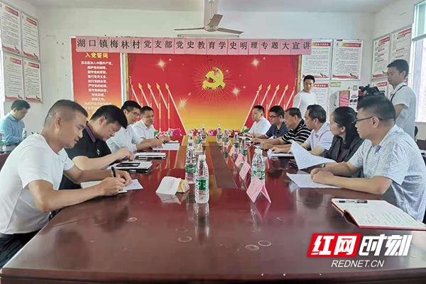 湖南工业大学乡村振兴工作队正式进驻茶陵县湖口镇梅林村