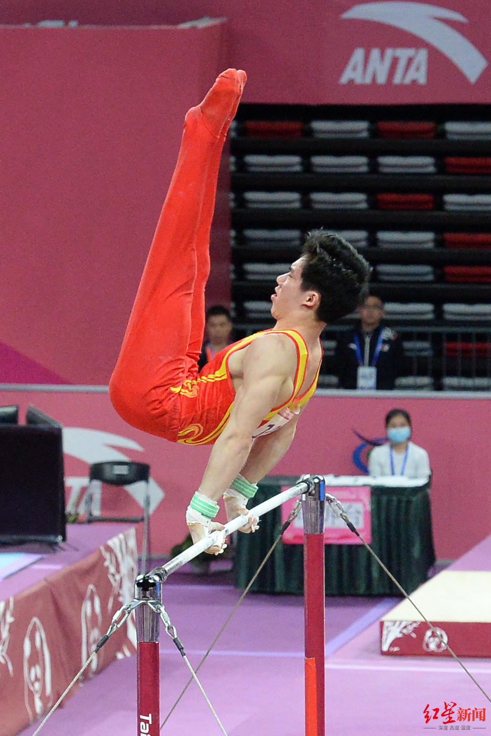 全国体操锦标赛男子吊环:辽宁选手刘洋夺冠,全能亚军张博恒第5