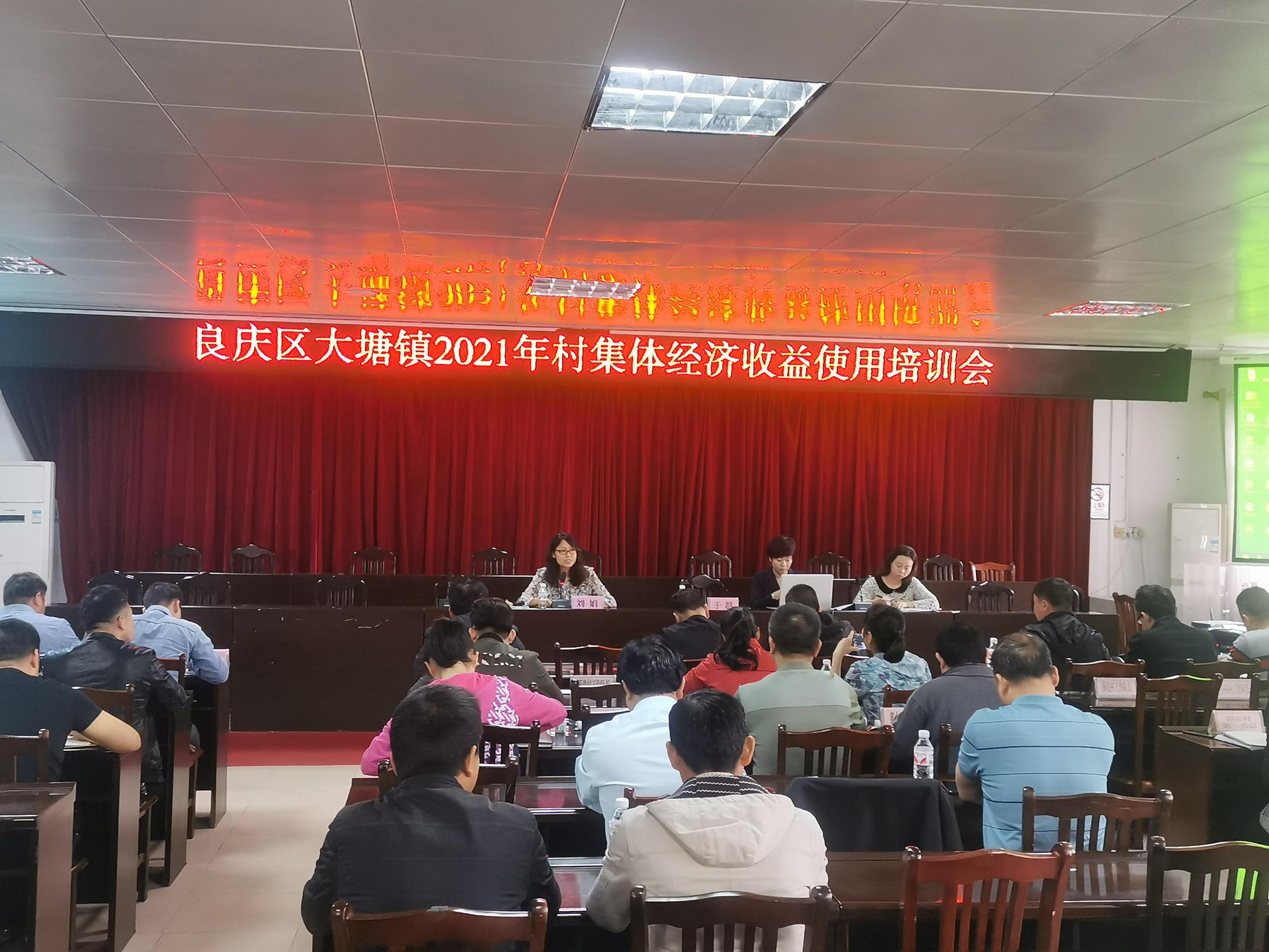 大塘镇召开2021年村集体经济收益使用培训会