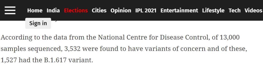 印度发现3532种变异毒株?真相其实是这样