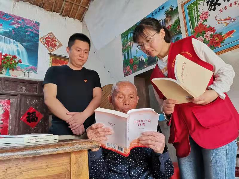 肥西紫蓬社区:学习读本送上门党史学习不掉队