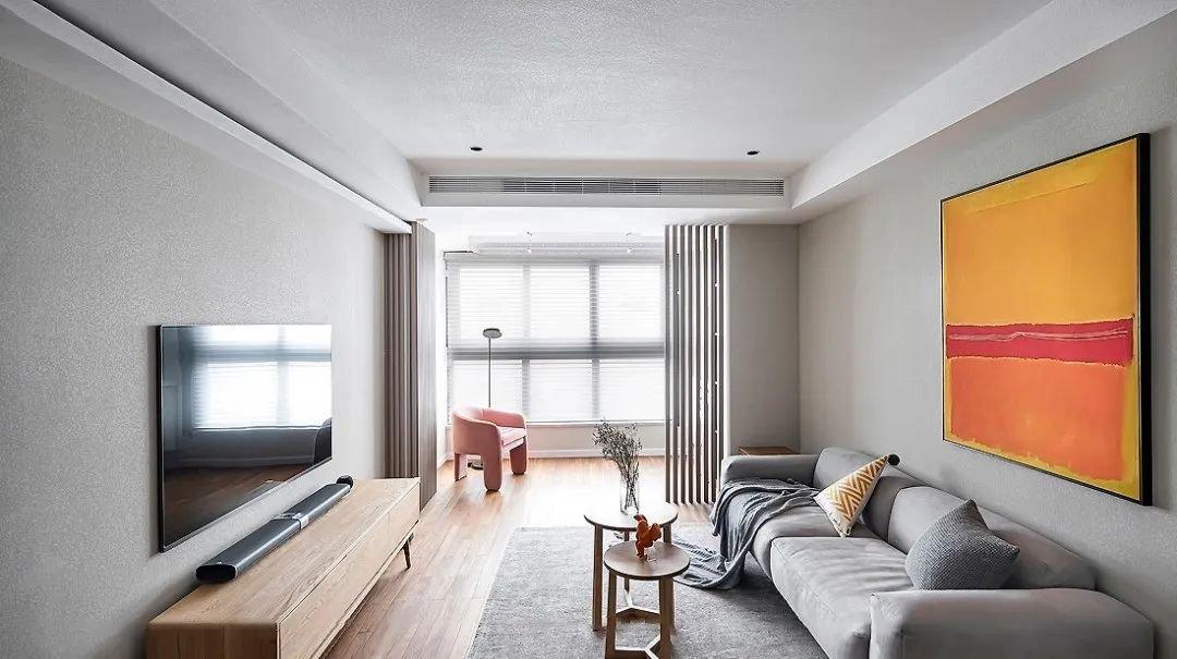 装修效果图丨89㎡简约北欧风格新房装修,卧室有飘窗太幸福!