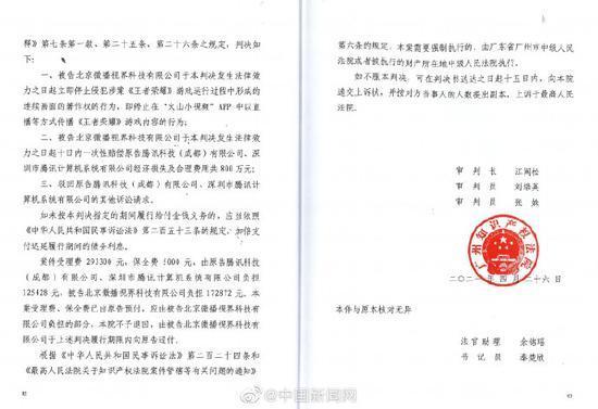抖音火山版被判赔偿腾讯800万元人民币