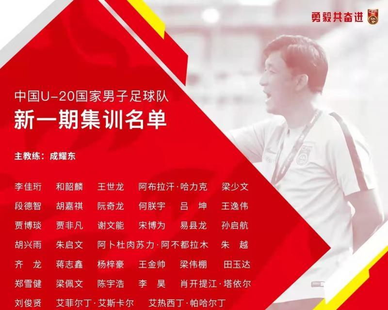 足协确认U20国青参加中乙联赛 成耀东点兵35人