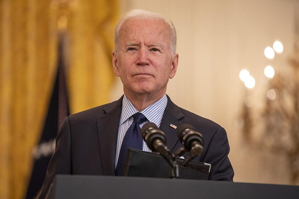 當地時間2021年5月7日,美國華盛頓特區,美國總統拜登發表演講。 人民視覺 圖