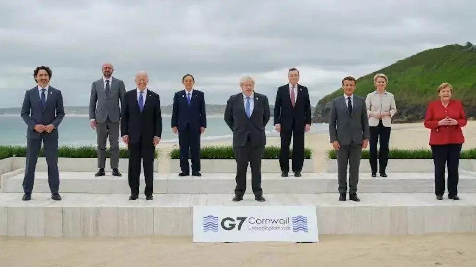 G7峰会领导人这张合影 凸显了一批美国二级盟友