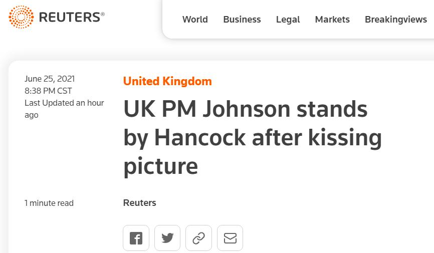 英国爆出大丑闻!约翰逊却说…