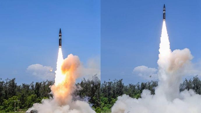 """印度国防部:成功试射新一代""""烈火""""核导弹"""