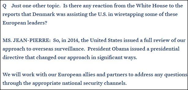 白宫回应监听事件:将继续通过美国安局与盟友合作