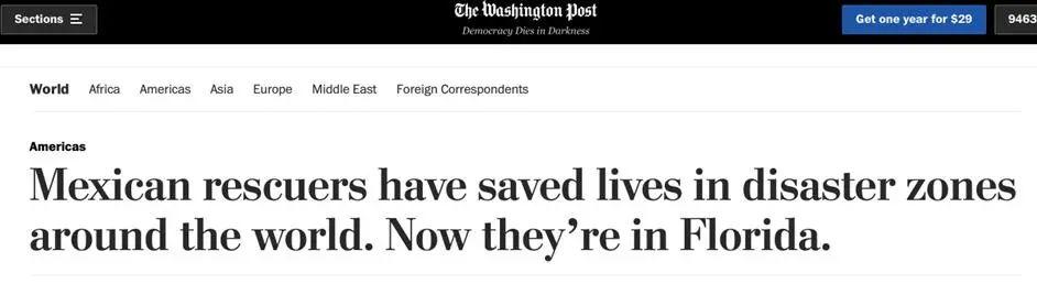 墨西哥救援队赶到美国塌楼现场,然后却……