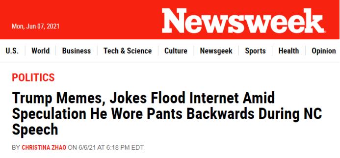 """他""""华丽亮相"""",""""裤子穿反了""""?"""